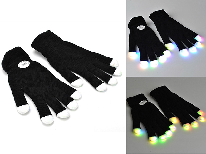 LED Rave Flashing Gloves JS-1010